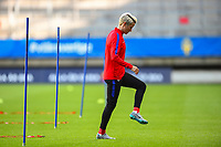 Gothenburg, Sweden - Thursday June 08, 2017: Megan Rapinoe prior to an international friendly match between the women's national teams of Sweden (SWE) and the United States (USA) at Gamla Ullevi Stadium.