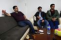 Syria 2019 In Amuda, the team of Arta Radio, the local independant radio. Left, Sirwan H.Berko, General Director   Syie 2019  A Amouda, l'equipe de Arta Radio, radio locale indépendante. A gauche, Sirwan H. Berko, directeur general de la station