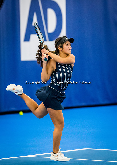 Amstelveen, Netherlands, 18  December, 2020, National Tennis Center, NTC, NK Indoor, National  Indoor Tennis Championships,   : Lian Tran (NED) <br /> Photo: Henk Koster/tennisimages.com