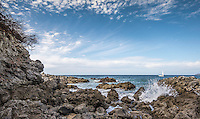 Fine Art Landscape Photograph of the rugged ocean shoreline in Sayulita Mexico.<br />