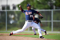 Minnesota Twins pitcher Williams Ramirez (70) during an Instructional League game against the Boston Red Sox on September 24, 2016 at CenturyLink Sports Complex in Fort Myers, Florida.  (Mike Janes/Four Seam Images)