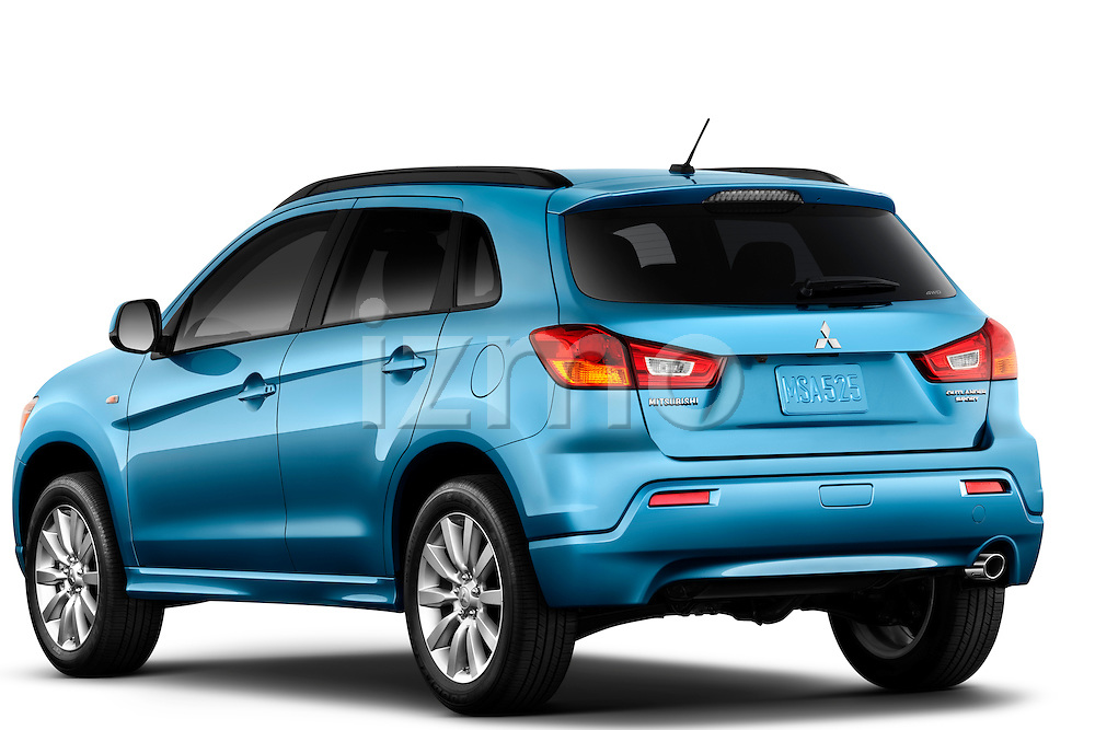 Rear driver side view of a 2011 Mitsubishi Outlander Sport SE