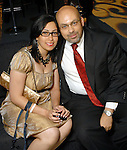 Mariam Armanious and Peter Awad at the the Simon Fashion Now extravaganza  at The Galleria Thursday Sept. 17,2009.(Dave Rossman/For the Chronicle)
