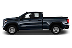 Car Driver side profile view of a 2019 GMC Sierra-1500 WT 4 Door Pick-up Side View