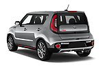 Car pictures of rear three quarter view of 2018 KIA Soul Exclaim 5 Door Hatchback Angular Rear