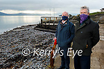 Michael Slattery and Tom Kennedy from the Tralee Bay Swimming Club who are opposed to planning permission to reinstate the Diving Boards at Fenit.