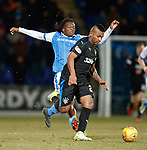Matty Willock lunges at Alfredo Morelos