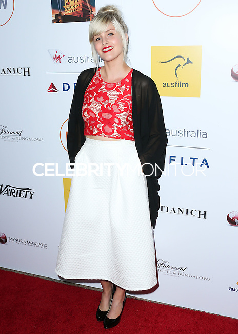 SANTA MONICA, CA, USA - OCTOBER 26: Amy Ruffle arrives at the 3rd Annual Australians in Film Awards Benefit Gala held at the Starlight Ballroom at Fairmont Miramar Hotel & Bungalows on October 26, 2014 in Santa Monica, California, United States. (Photo by Xavier Collin/Celebrity Monitor)