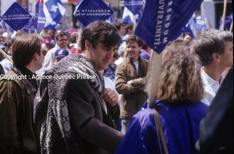 Lucien Bouchard <br /> <br /> (date exacte inconnue)<br /> <br /> PHOTO :   agence Quebec Presse  -  Fond Chronopresse