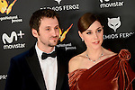 Raul Arevalo and Ruth Diaz attends to the Feroz Awards 2017 in Madrid, Spain. January 23, 2017. (ALTERPHOTOS/BorjaB.Hojas)