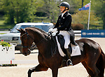 April 22, 2021: 25 RF Scandalous and rider Marilyn Little finish at the top of the leaderboard for day 1 of 5* Dressage  at the Land Rover Three Day Event at the Kentucky Horse Park in Lexington, KY on April 22, 2021.  Candice Chavez/ESW/CSM