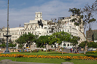 Lima, Peru.  Plaza San Martin.