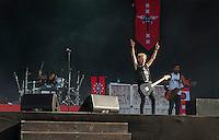 Le groupe Sum 41 sur la grande scËne de Rock en Seine ‡ Saint Cloud le dimanche 28 ao˚t 2016