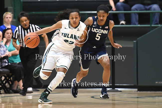 Tulane Women's Basketball plays host to UConn and almost pulls the upset before falling, 63-60.