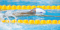 01 AUG 2012 - LONDON, GBR - Ryan Lochte (USA) of the USA surfaces after turning for the final length during his men's 200m Backstroke heat during the morning session of the London 2012 Olympic Games Swimming at the Aquatic Centre in the Olympic Park, in Stratford, London, Great Britain (PHOTO (C) 2012 NIGEL FARROW)