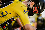 Yellow Jersey Adam Yates (GBR) Mitchelton-Scott at sign on before the start of Stage 8 of Tour de France 2020, running 141km from Cazeres-sur-Garonne to Loudenvielle, France. 5th September 2020.<br /> Picture: ASO/Pauline Ballet | Cyclefile<br /> All photos usage must carry mandatory copyright credit (© Cyclefile | ASO/Pauline Ballet)