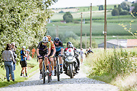 breakaway group over the cobbles<br /> <br /> Grote Prijs Marcel Kint 2021<br /> One day race from Zwevegem to Kortrijk (196km)<br /> <br /> ©kramon
