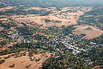 Over Amador County-aerials of Sutter Creek