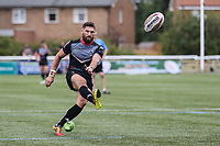Jarrod Sammut of London Broncos converts to make the score 42-16 during the Kingstone Press Championship match between London Broncos and Sheffield Eagles at Castle Bar , West Ealing , England  on 9 July 2017. Photo by David Horn.