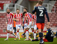 20th February 2021; Bet365 Stadium, Stoke, Staffordshire, England; English Football League Championship Football, Stoke City versus Luton Town; Stoke celebrate a second goal for Nick Powell of Stoke City in the 63rd minute