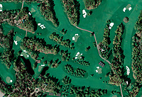 aerial photo map of Augusta National Golf Club Georgia, Augusta, Georgia