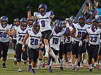 The Fayetteville Bulldogs take the field prior to the game against Fort Smith Southside on Friday, Oct. 8, 2021 in Fort Smith. (Special to NWA Democrat Gazette/Brian Sanderford)