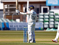 Fifty for Lancashire's Luke Wood during Kent CCC vs Lancashire CCC, LV Insurance County Championship Group 3 Cricket at The Spitfire Ground on 23rd April 2021