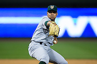 Lynchburg Hillcats starting pitcher Justus Sheffield (41) in action against the Winston-Salem Dash at BB&T Ballpark on April 28, 2016 in Winston-Salem, North Carolina.  The Dash defeated the Hillcats 4-1.  (Brian Westerholt/Four Seam Images)