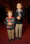 Brayden Joiner,3, and Bryce Joiner,6, at the opening night of The Nutcracker at the Wortham Theater Friday Nov. 27,2009. (Dave Rossman/For the Chronicle)