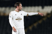 Gylfi Sigurosson of Swansea City during the Capital One Cup match between Hull City and Swansea City played at the Kingston Communications Stadium, Hull