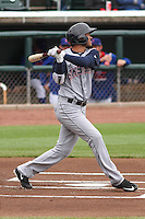Colorado Springs Sky Sox infielder Luis Sardinas (2) at bat during a Pacific Coast League game against the Iowa Cubs on May 11th, 2015 at Principal Park in Des Moines, Iowa.  Colorado Springs defeated Iowa 13-7.  (Brad Krause/Four Seam Images)