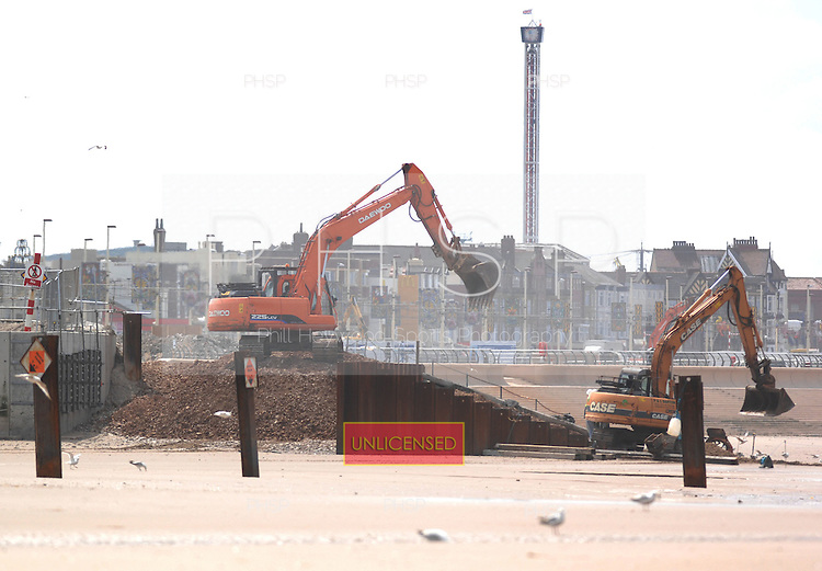 Work continues on the sea defences around Manchester Square