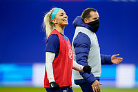 LE HAVRE, FRANCE - APRIL 13: Julie Ertz #8 of the United States during warm ups before a game between France and USWNT at Stade Oceane on April 13, 2021 in Le Havre, France.