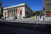 Montreal (QC) CANADA - June 7, 2012 - Montreal Museum of Fine Arts on Sherbrook street and Crescent.