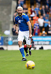 St Johnstone v Rangers…11.09.21  McDiarmid Park    SPFL<br />Shaun Rooney chases down the ball<br />Picture by Graeme Hart.<br />Copyright Perthshire Picture Agency<br />Tel: 01738 623350  Mobile: 07990 594431