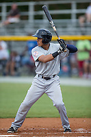 Carlos Vidal (72) of the Pulaski Yankees at bat against the Burlington Royals at Burlington Athletic Park on August 6, 2015 in Burlington, North Carolina.  The Royals defeated the Yankees 1-0. (Brian Westerholt/Four Seam Images)