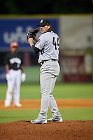 Jackson Generals relief pitcher Mason McCullough (44) gets ready to deliver a pitch during a game against the Chattanooga Lookouts on May 9, 2018 at AT&T Field in Chattanooga, Tennessee.  Chattanooga defeated Jackson 4-2.  (Mike Janes/Four Seam Images)