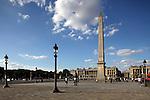 Obelisk in Concorde Square Place de la Concorde. Paris. France