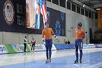 SPEEDSKATING: 12-02-2020, Utah Olympic Oval, ISU World Single Distances Speed Skating Championship, Martin Talsma (NED), Douwe de Vries (NED), ©Martin de Jong