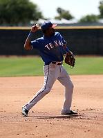 Rafy Barete - Texas Rangers 2019 extended spring training (Bill Mitchell)
