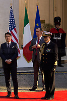 (From L to R) Italian Prime Minister Giuseppe Conte & Admiral Sq. Carlo Massagli (Military Advisor of the Prime Minister and Head of the Secretariat Office).<br /> <br /> Rome, 24/01/2020. Today, Mike Pence, Vice President of the United States of America (Member of the Republican Party, supporter of the Tea Party Movement, and former Governor of Indiana), visited Palazzo Chigi where he met with the Italian Prime Minister Giuseppe Conte.