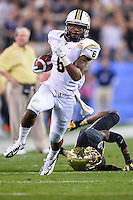 January 01, 2014:<br /> <br /> UCF Knights wide receiver Randell Hall #6 rushes past a Baylor Bears defender on his way to score during Tostitos Fiesta Bowl at University of Phoenix Stadium in Scottsdale, AZ. UCF defeat Baylor 52-42 to claim it's first ever BCS Bowl trophy.