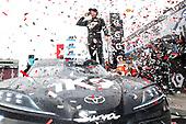 #18: Kyle Busch, Joe Gibbs Racing, Toyota Supra Extreme Concepts/iK9celebrates in victory lane