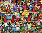 Randy, CHRISTMAS SANTA, SNOWMAN, WEIHNACHTSMÄNNER, SCHNEEMÄNNER, PAPÁ NOEL, MUÑECOS DE NIEVE, paintings+++++,USRW347,#x# ,puzzle,puzzels