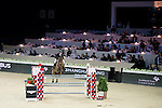 Billy Twomey on Diaghilev competes during the Table A with Jump-off 145 - Airbus Trophy at the Longines Masters of Hong Kong on 20 February 2016 at the Asia World Expo in Hong Kong, China. Photo by Li Man Yuen / Power Sport Images