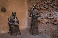 Santa Familia, modern sculpure beside Basilica of St. Mary of the Angels and the Martyrs, Rome, Italy