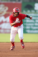 Batavia Muckdogs center fielder Nick Longmire (31) during a game vs. the State College Spikes at Dwyer Stadium in Batavia, New York June 26, 2010.   State College defeated Batavia 9-8.  Photo By Mike Janes/Four Seam Images