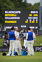 NZ's Daryl Mitchell and Kane Williamson during day three of the second International Test Cricket match between the New Zealand Black Caps and Pakistan at Hagley Oval in Christchurch, New Zealand on Tuesday, 5 January 2021. Photo: Dave Lintott / lintottphoto.co.nz