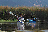 Kayaking in Rodman Slough, Lake County, California
