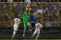 SAN SALVADOR, EL SALVADOR - SEPTEMBER 2: Matt Turner #1 of the United States makes the save during a game between El Salvador and USMNT at Estadio Cuscatlán on September 2, 2021 in San Salvador, El Salvador.